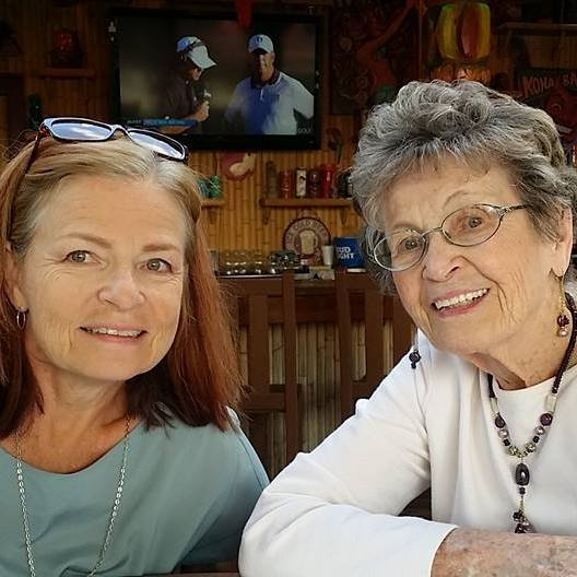 Carolyn Beck with her mother, Ruth Gras.