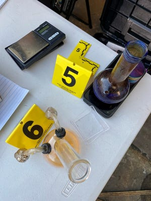 Drug paraphernalia was seized at a beachside nuisance home raided by Daytona Beach police on Wednesday.
