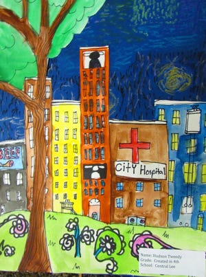Artwork by Central Lee fourth-grader Hudson Tweedy, featured through Feb. 6 in the FMAAA Budding Artist Exhibition.