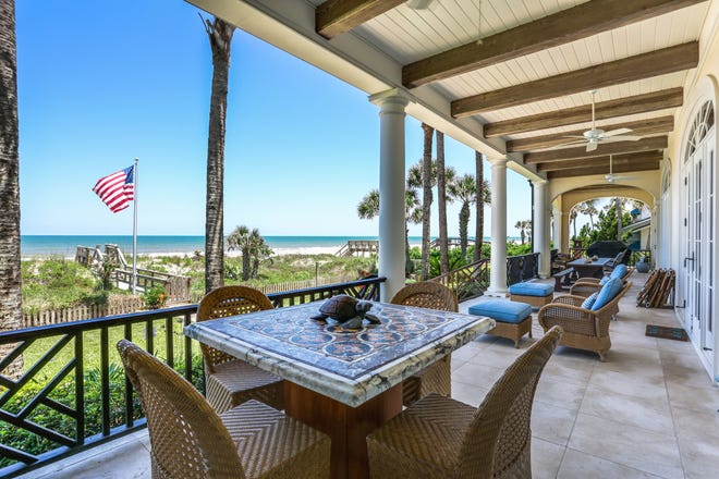 This magnificent beachfront home on Ponte Vedra Boulevard, which sold for $7,000,000 last month, was among December's top home sales.