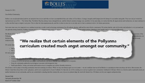 """The Bolles School in Jacksonville announced in an email to families that it was discontinuing part of its racial literacy curriculum citing """"angst."""""""