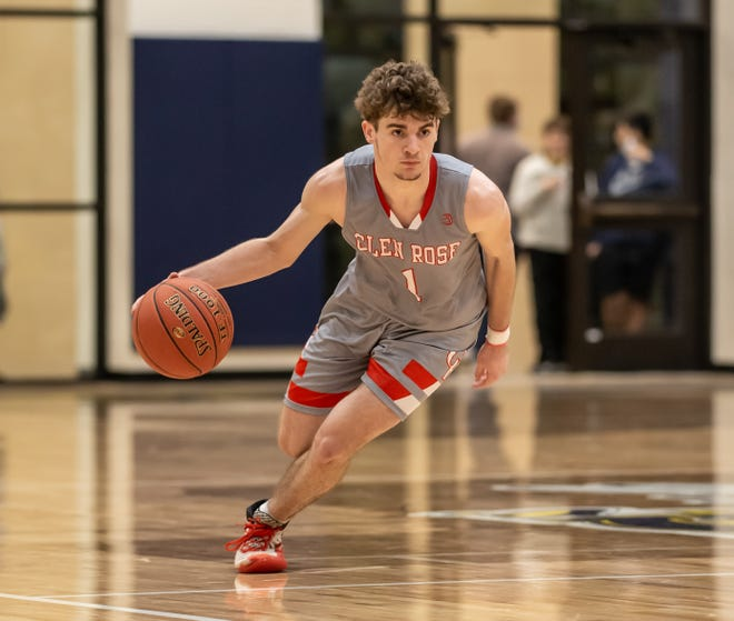 Glen Rose guard Kolton Mooney scored 10 points in the win over Stephenville on Tuesday night.