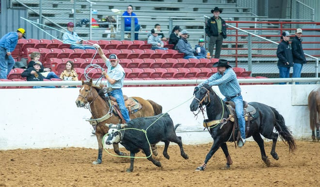 The Somervell County Expo Center was hopping with ropers last Saturday and Sunday with the Fire It Up Productions team roping competition. More than 100 ropers competed for prizes and prize money in the two-day event.