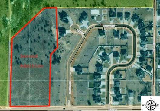 The King's Gate second addition, a residential single-family housing development, is planned for northwest Hays off 41st Street.