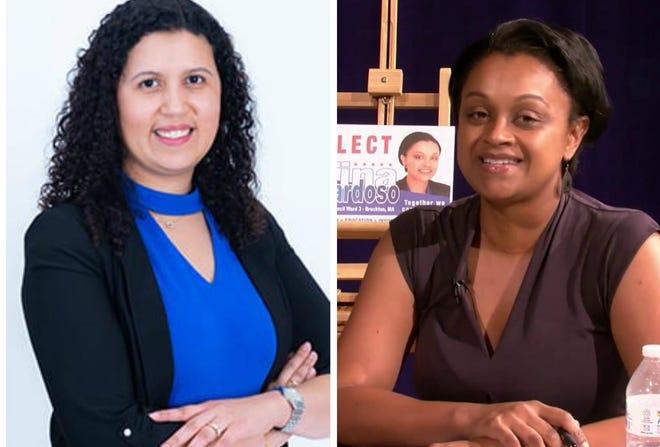 Rita Mendes e Tina Cardoso, conselheiras municipais da cidade de Brockton, Massachusetts.