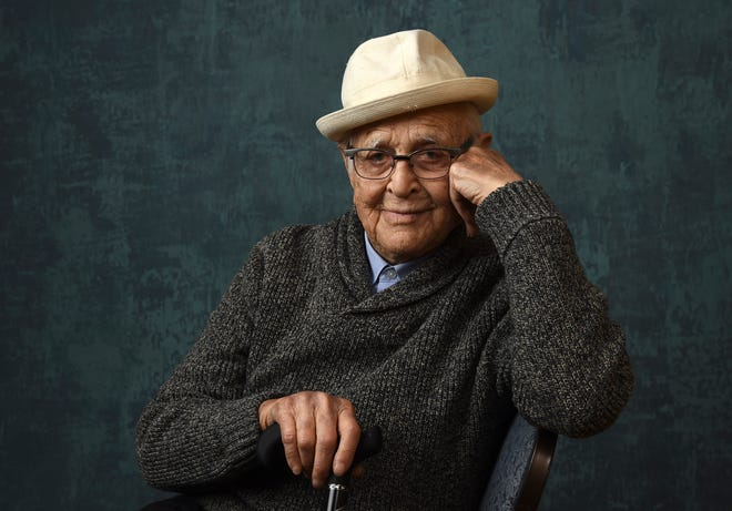 "Norman Lear, executive producer of the Pop TV series ""One Day at a Time,"" poses for a portrait during the Winter Television Critics Association Press Tour on Jan. 13, 2020, in Pasadena, Calif. The Golden Globes will bestow the Carol Burnett Award to Lear during the 78th annual awards ceremony next month."