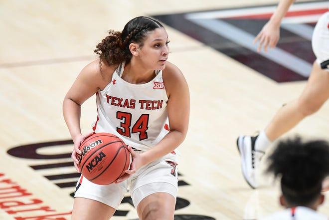 Former Texas Tech player Lexi Gordon (34) announced Tuesday she will transfer to Duke. Gordon was the Lady Raiders' second-leading scorer this season, averaging 15.7 points per game.