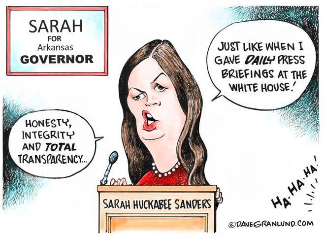 Dave Granlund cartoon on Sarah Huckabee Sanders running for governor