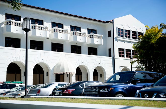 The building at 440 Royal Palm Way has surface parking with underground secured garage parking.