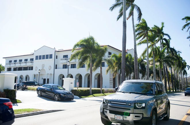 Owners of buildings like this one at 440 Royal Palm Way, which has surface parking with underground secured garage parking, can now opt to lease up to 50% of their available spots to other businesses.