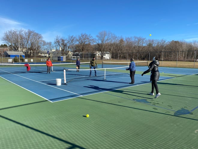 Players play Pickleball during a recent outing of Hampton Recreation's Jump On It program.