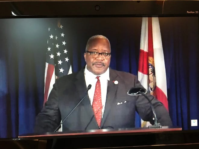 West Palm Beach Mayor Keith James, in a virtual State of the City Address, said the city is progressing despite challenges posed by the coronavirus pandemic. [TONY DORIS/palmbeachpost.com]