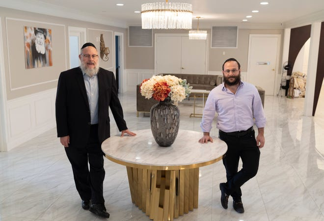 Rabbi Shlomo Ezagui, left, and his son, Rabbi Leib Ezagui, are overseeing a $5 million renovation of the Jewish Community Synagogue in North Palm Beach that will include an upgraded sanctuary, library, classrooms and meeting rooms, a new lounge, and a playroom for kids.