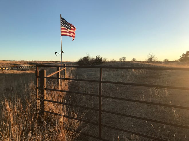 An American flag reflects the sun along U.S. South Highway 281 near Medicine Lodge and the Kiowa County turnoff, a symbol of hope to many in the heartland, and to Pratt Tribune columnist Brandon Case.