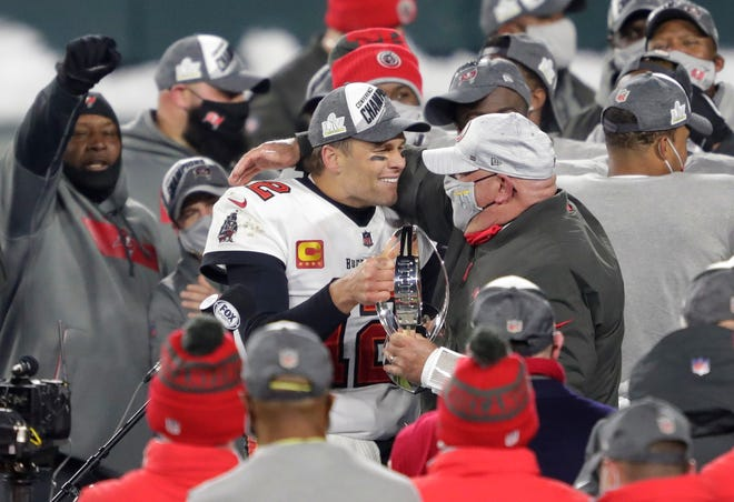 Quarterback Tom Brady and coach Bruce Arians proved to be a winning combination for Tampa Bay.