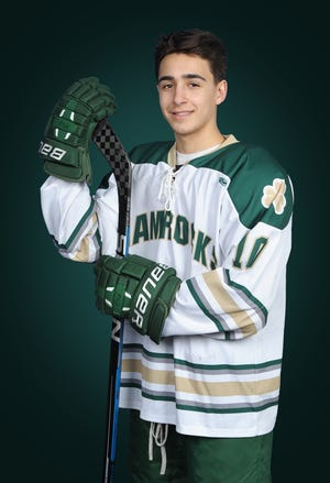 A.J. Quetta of Bishop Feehan High School was seriously injured in a boys hockey game on Jan. 26 in West Springfield.