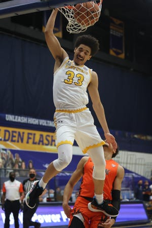 Freshman guard Jeremiah Hernandez is one of several Kent State players who will need to step us due to the loss of star senior guard Michael Nuga to a likely season-ending knee injury.