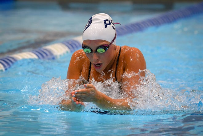 Penn State swimmer Carly Hart in action for the Nittany Lions. (Penn State Athletic Department)