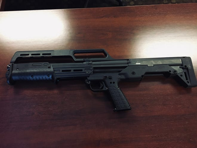 Rockford police said this defaced gun was recovered after a man was taken into custody on Wednesday, Jan. 27, 2021, on the 5700 block of Forest Hills Road.