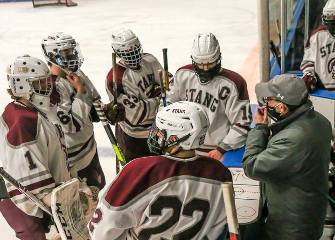 Directed by Ken Gouveia, Bishop Stang boys hockey has won four straight games.