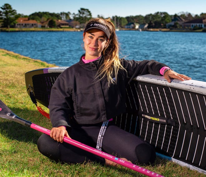 Juliette Duhaime, award winning paddleboarder, is a resident of Fairfield Harbour. [CONTRIBUTED PHOTO]
