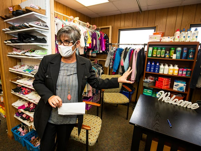 Students have access to clothes and personal hygiene items at a community partnership school in Ocala.