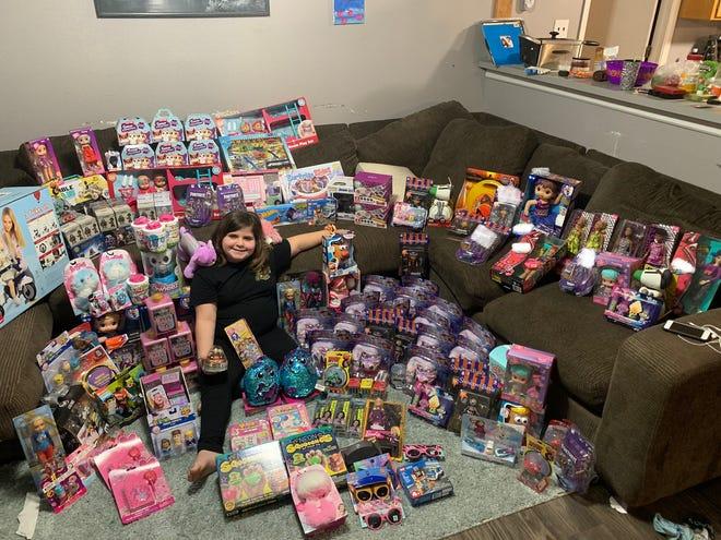 Willow Herrera raised money to buy toys for kids at Arkansas Children's Northwest.