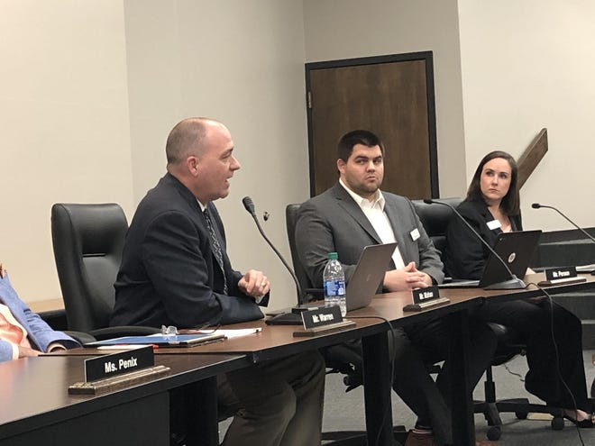 Assistant Superintendent Marty Mahan, seen here in May 2020, gave the first monthly COVID-19 update to the board of education during Monday's meeting