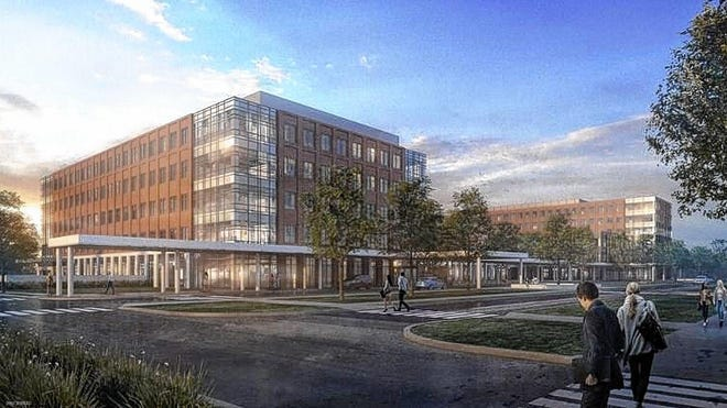 A rendering shows Ohio State University's proposed outpatient-care center in Powell. The project was approved Feb. 5, 2019, by Powell City Council, which on Jan. 19 granted Ohio State an extension on approval of its final development plan.