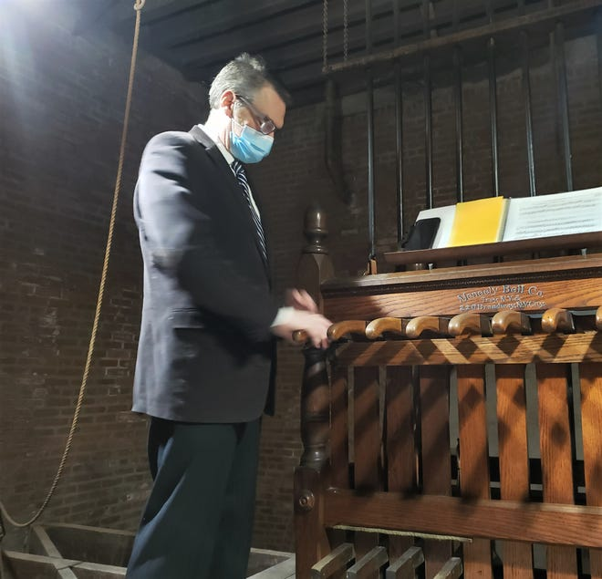 Bill Keohan rings the bell New Year's Eve for residents who died of COVID-19. It will sound again this Sunday at 4:30 p.m. to remember those who have been lost.