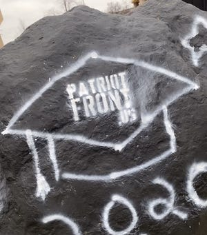 White supremacist markings were found Wednesday at Northern Kentucky University.