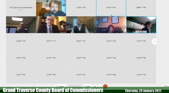 The Grand Traverse County Board of Commissioner's meeting was livestreamed Thursday and lasted over five hours.