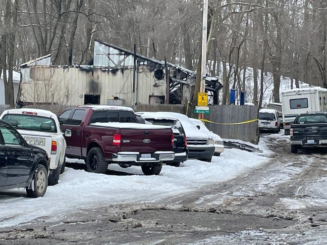 Wilson's Auto in Unadilla Township was destroyed in a fire Wednesday. The damage is shown Thursday, Jan. 28, 2021.