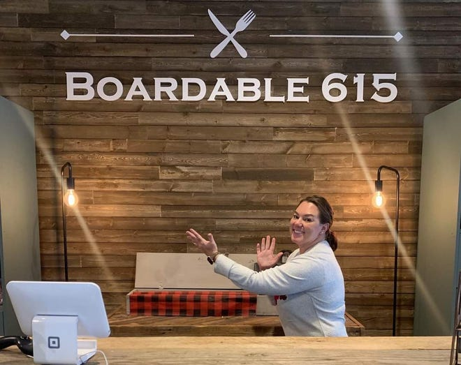 Boardable 615 owner Elizabeth Dotson in her store in Downtown Dickson.