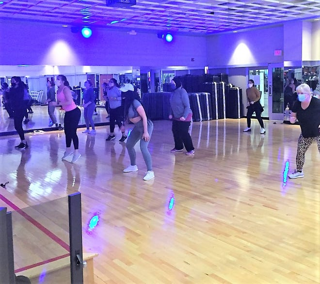 This Canton Lifetime exercise studio was buzzing with activity Wednesday, Jan. 27.