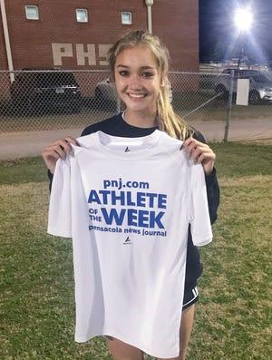 Athlete of the Week - Sophia Witkin - Pensacola High School girls soccer.