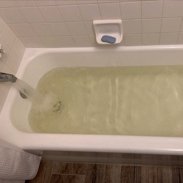 A photo of the water in John-Paul Reiger's home near 12th Street and Bethany Home Road on Sunday, Jan. 24, 2021.