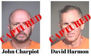 Escaped Arizona prison inmates David Harmon, John Charpiot captured