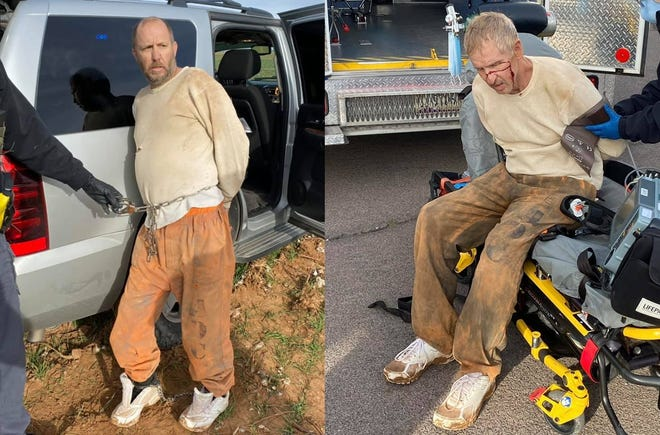 Inmates John Charpiot (left) and David Harmon, who escaped from a Florence prison on Jan. 23, 2021, were found and taken back into custody on Jan. 28 in Coolidge.