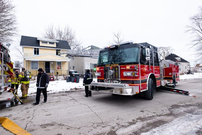 Crews responded to a fire on Gillette Street in Port Huron Thursday, Jan. 28, 2021. No one was injured in the fire.