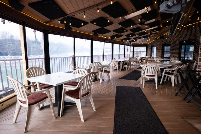 The deck at Pepper Joe's in St. Clair. The restaurant is situated close to both the St. Clair and Pine rivers.