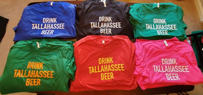 """Drink Tallahassee Beer"""" T-shirts and hoodies, which are available in 7 different colors, are now on sale at MadisonSocial.com/Beer-Society until Feb. 15."""