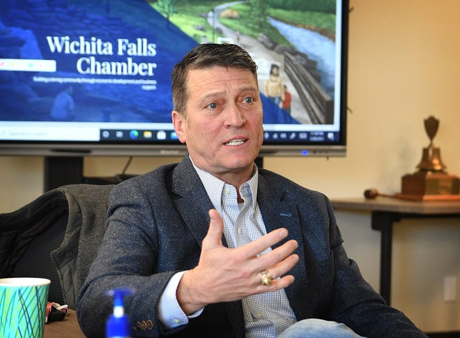 13th Congressional District Representative Ronny Jackson talks about the need for greater agriculture representation in Washington during a visit to the Wichita Falls Chamber of Commerce as shown in this Jan. 28, 2021, file photo.
