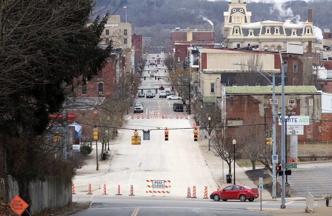 Main Street between Seventh and Ninth streets is set to open Friday morning, after a lengthy closure related to a collapsed sewer pipe.