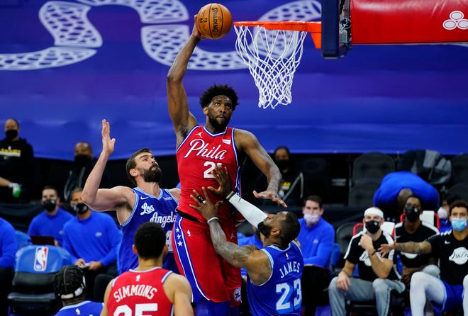 In his first season with new coach Doc Rivers, Joel Embiid is having an MVP-caliber season.