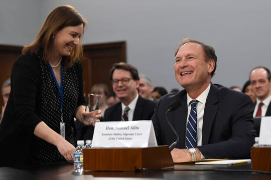 Supreme Court Justice Samuel Alito before testifying at House Appropriations Committee hearing on March 7, 2019.