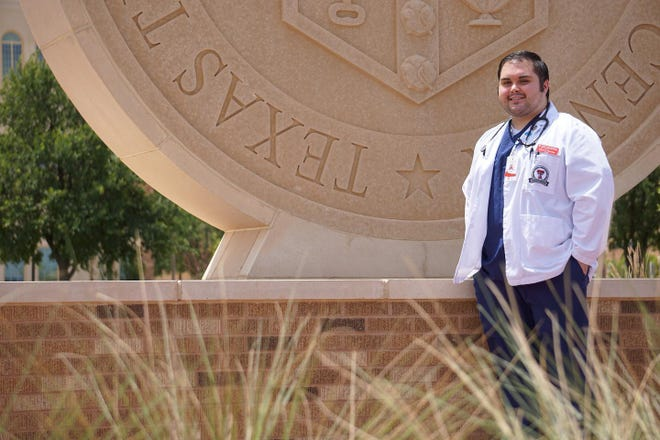 Marcus Gonzalez, who is in medical school in Lubbock, Texas, aims to return to his rural community north of Dallas to practice and help other Latinos.