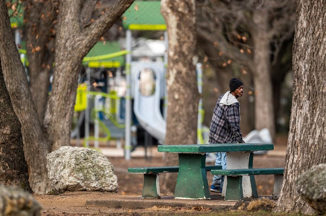 Homeless people have been setting up camps at some Austin parks, including Gillis Neighborhood Park in South Austin, shown here.