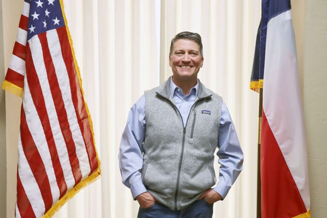 Ronny Jackson in his Amarillo office, located at 620 South Taylor St.
