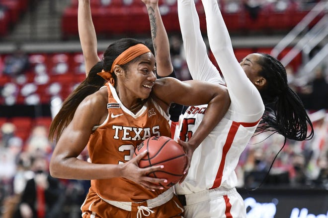 Texas forward Charli Collier is the reigning Big 12 player of the week. She scored 10 points and grabbed 17 rebounds in Wednesday night's 68-51 loss at Oklahoma State.